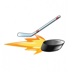 flaming puck vector image