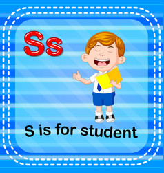 Flashcard letter s is for student vector