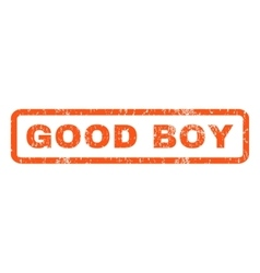 Good Boy Rubber Stamp vector image