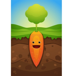 Happy carrot vector