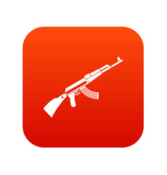 kalashnikov machine icon digital red vector image vector image