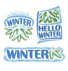 logo winter vector image vector image
