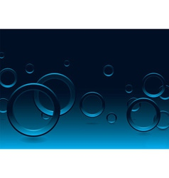 modern bubble blue vector image vector image