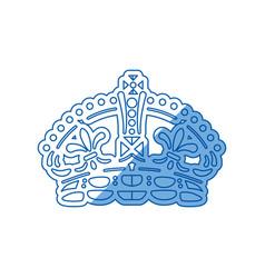 Queen crown symbol vector