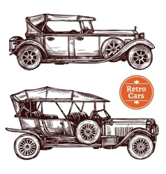 Retro cars set vector