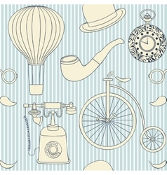 retro objects vector image