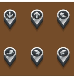 set of pointers to maps in 3d isometric vector image vector image