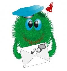 shaggy postman vector image vector image