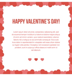 Valentines Day card template vector image