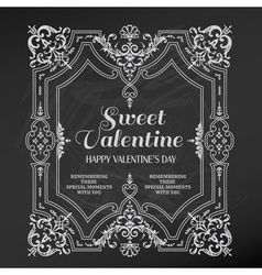 Vintage valentines day card design vector