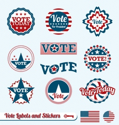Vote Labels vector image vector image