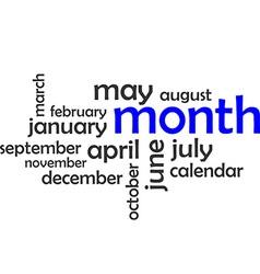Word cloud month vector