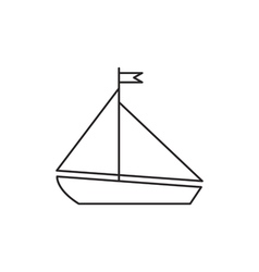 Yacht ship icon outline vector image
