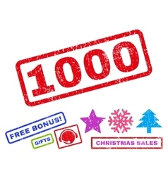 1000 Rubber Stamp vector image vector image