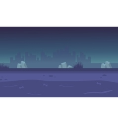 Landscape city for backgrounds game vector