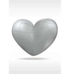 Metallic heart vector