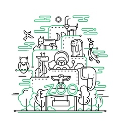 The zoo - line design vector