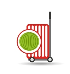 Trolley shop juicy watermelon fruit vector