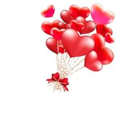 Elegant valentines day heart balloons eps 10 vector