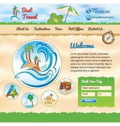 Background for travel website vector image