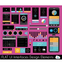 Ui flat design elements for web infographics vector