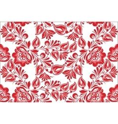 stylized floral seamless pattern vector image