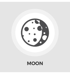 Moon flat icon vector image