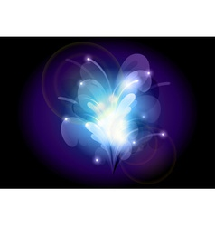 Abstract flower blue vector