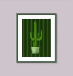 art painting with cactus vector image