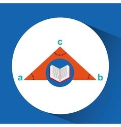 Book school open and triangle geometri vector