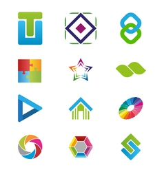 Creative logo elements vector image