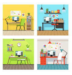 creative work space for designers and artists with vector image vector image