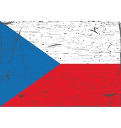 Czech flag grunge vector image