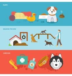 Dog banner set vector