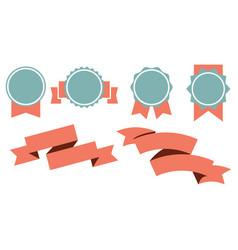 element set of ribbon image vector image vector image