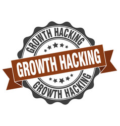 Growth hacking stamp sign seal vector