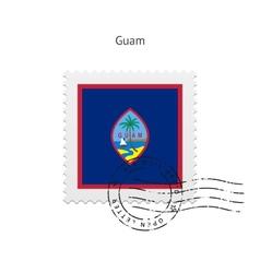 Guam flag postage stamp vector