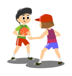 Happy kids school activity child sport team boy vector