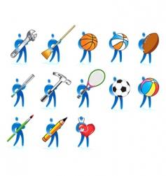 Human skills set vector