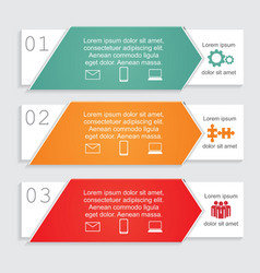 Infographic card report template vector image