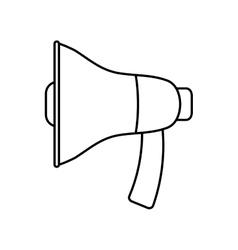 Megaphone icon Communication design vector image vector image