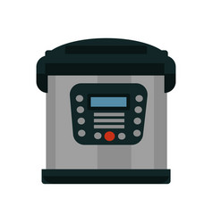 multifunctional multicooker of metal color with vector image