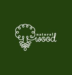 natural wood logo vector image