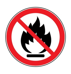 No fire open flame sign vector