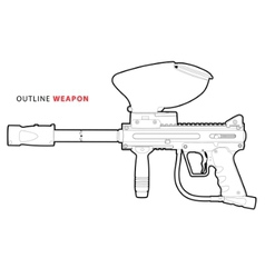 paintball marker vector image vector image