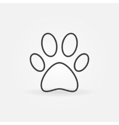 Paw line icon vector image vector image