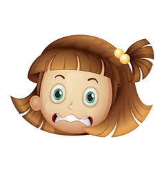 Scared girl vector image
