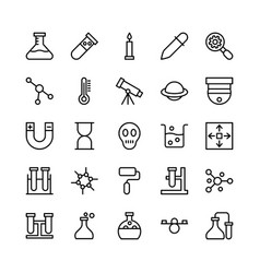 Science and technology line icons 6 vector