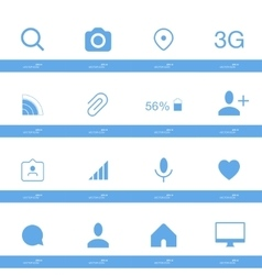 Set of social icons in flat style isolated on vector image vector image