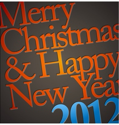 typography christmas vector image vector image